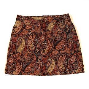 Lady Hagen Paisley Golf Skirt